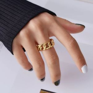 925 Stering Silver Chunky Twisted Chain Ring